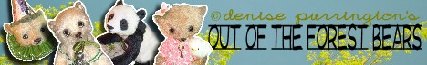Out Of The Forest Bears - Original OOAK Mohair Artist Bears & Friends from Denise Purrington
