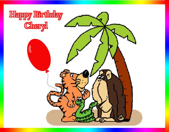 HAPPY BIRTHDAY CHERYL (BINGLE BEARS) / General / Teddy Talk.