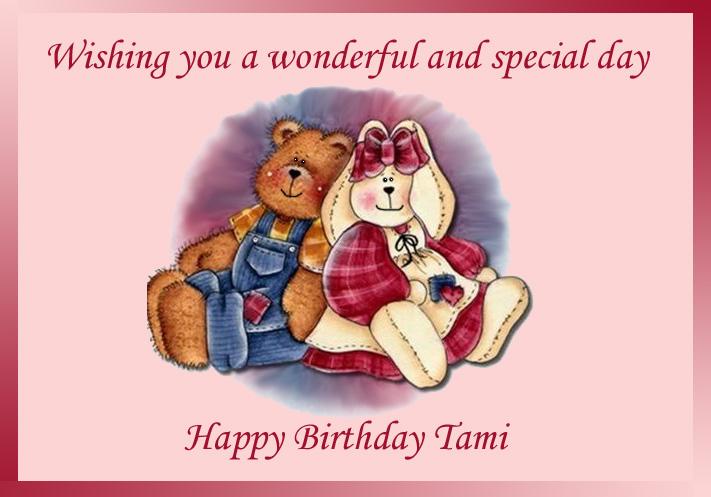 Happy birthday bear hug