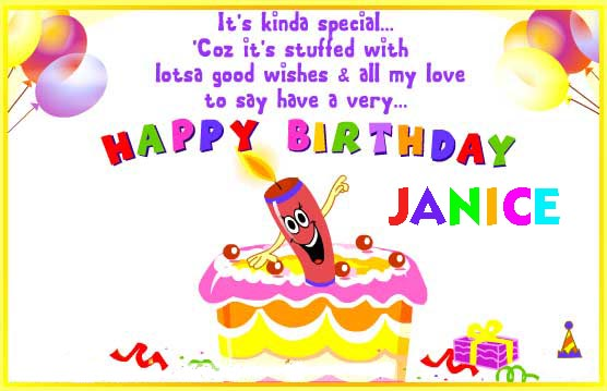 Happy Birthdy Janice Cake